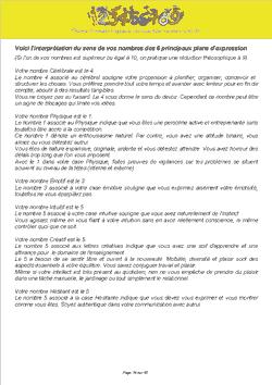 Page 16 du thème numérologique
