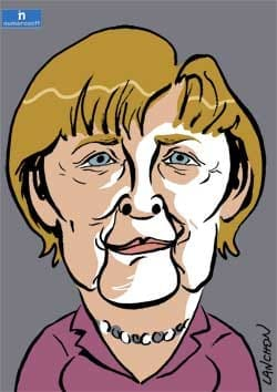 caricature de Angela Merkel