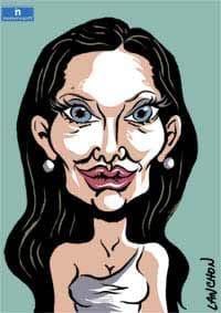 Portrait d'Angelina Jolie, actrice, réalisatrice, écrivaine et ambassadrice