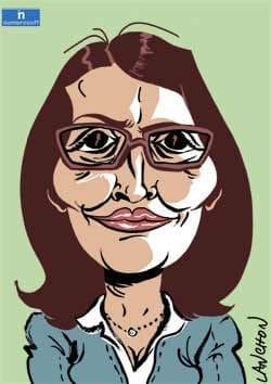 caricature de Cécile Duflot