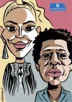 Portrait : Couple Beyoncé & Jay-Z