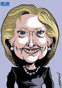 Portrait d'Hillary Clinton, femme politique du parti démocrate Américain